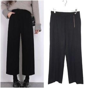 Dries Van Noten 100% Wool Wide Leg Pants Trousers